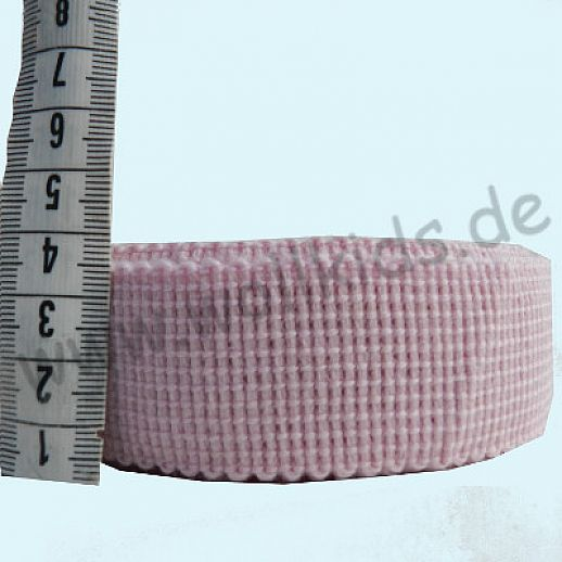 Wollborte - 100% Schurwolle - rosa - Tresse Wolltresse - Einfassband