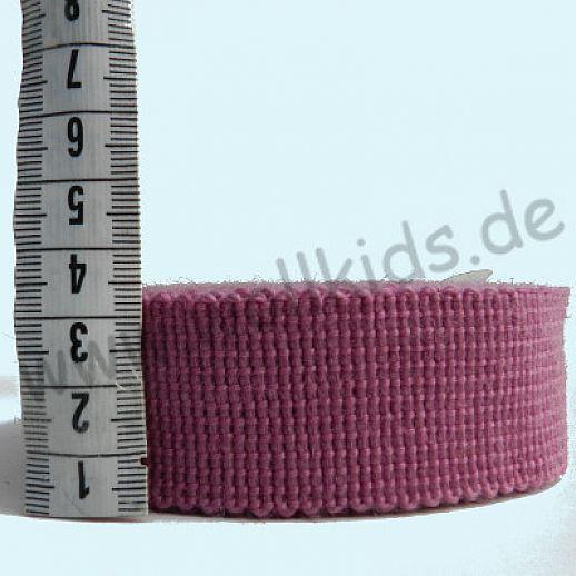Wollborte - 100% Schurwolle - cream-berry - Tresse Wolltresse - Einfassband