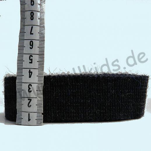 Wollborte - 100% Schurwolle - nachtblau melange - Tresse Wolltresse - Einfassband