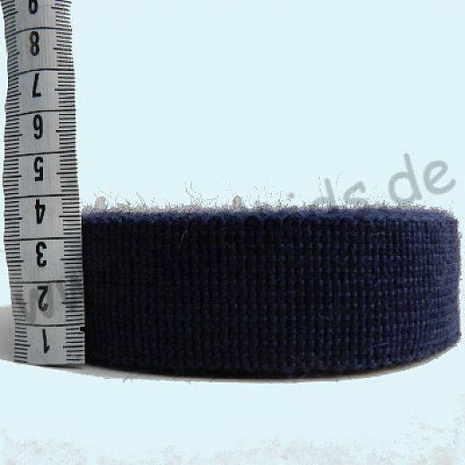 Wollborte - 100% Schurwolle - marine - Tresse Wolltresse - Einfassband