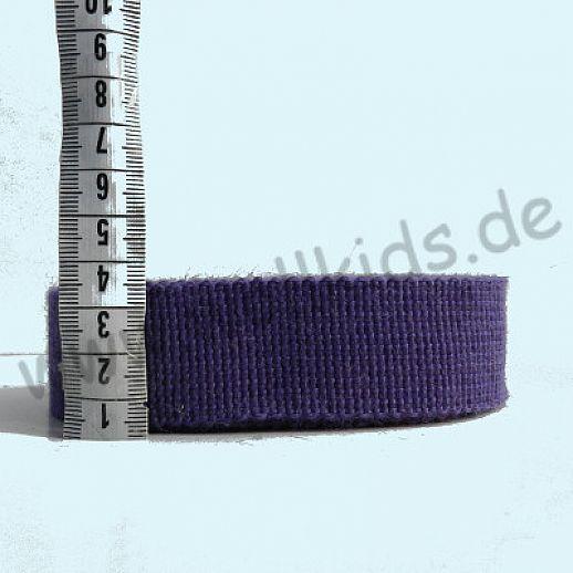Wollborte - 100% Schurwolle - lavendel - Tresse Wolltresse - Einfassband