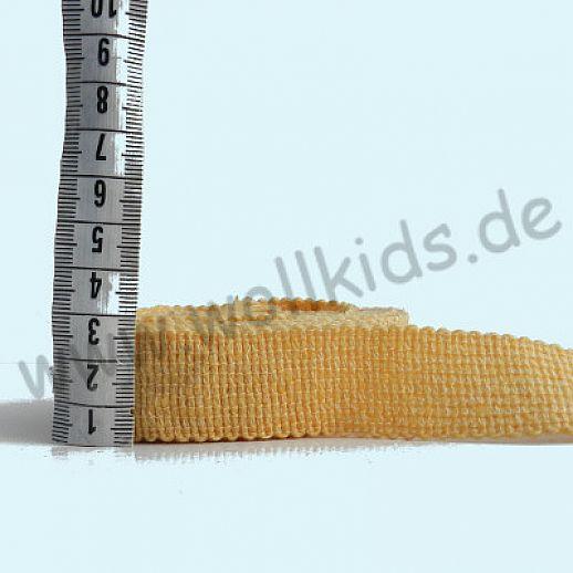 Wollborte - 100% Schurwolle - hell gelb - Tresse Wolltresse - Einfassband