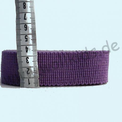 Rest 86cm Wollborte - 100% Schurwolle - hell violett - Tresse Wolltresse - Einfassband