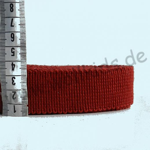Rest 1,13 m Wollborte - 100% Schurwolle - dunkelrot - Tresse Wolltresse - Einfassband