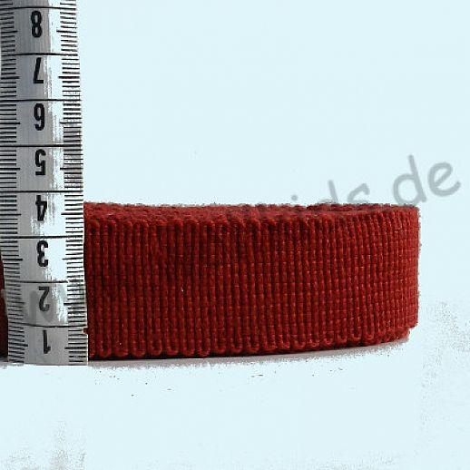 Rest 0,5 m Wollborte - 100% Schurwolle - dunkelrot - Tresse Wolltresse - Einfassband