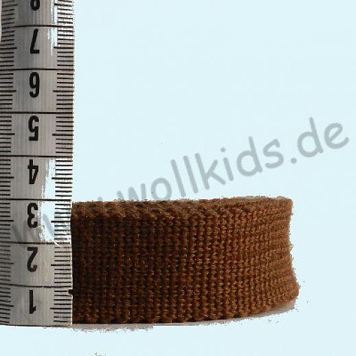 Wollborte - 100% Schurwolle - schoko - Tresse Wolltresse - Einfassband