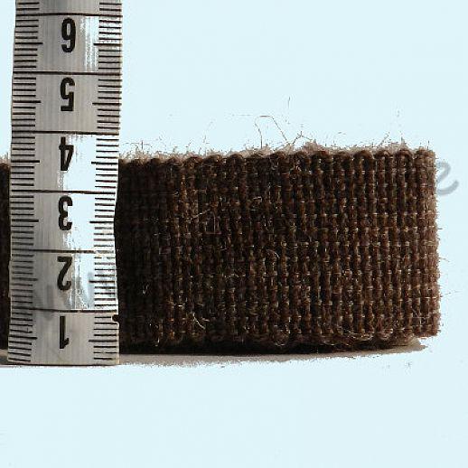 Rest 0,90 m Wollborte - 100% Schurwolle - dunkelbraun melange  - Tresse Wolltresse - Einfassband