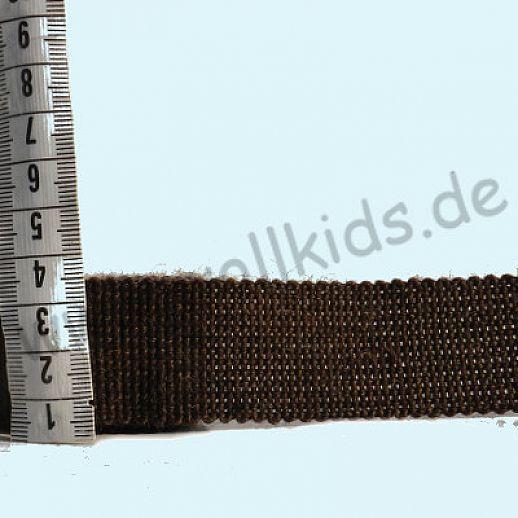 Rest 1,25 m Wollborte - 100% Schurwolle - dunkelbraun - Tresse Wolltresse - Einfassband