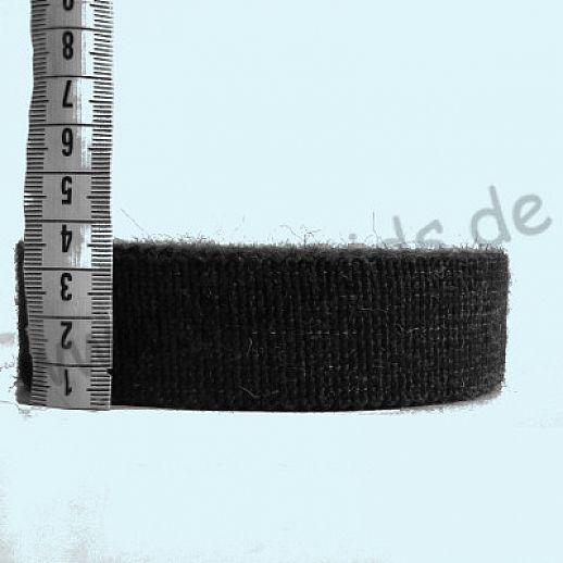 Wollborte - 100% Schurwolle - anthrazit melange - Tresse Wolltresse - Einfassband