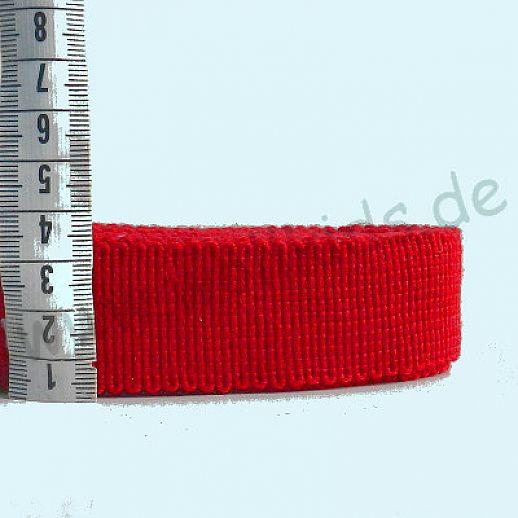 Wollborte - 100% Schurwolle - rot 2 - Tresse Wolltresse - Einfassband