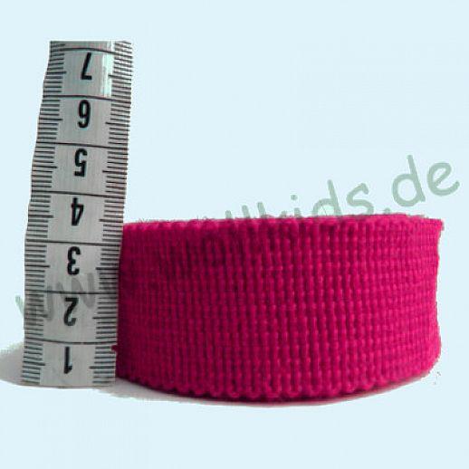 Wollborte - 100% Schurwolle - dunkelpink pink - Tresse Wolltresse - Einfassband