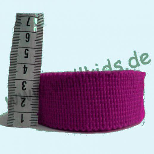 Rest 120cmWollborte - 100% Schurwolle - beere lila - Tresse Wolltresse - Einfassband