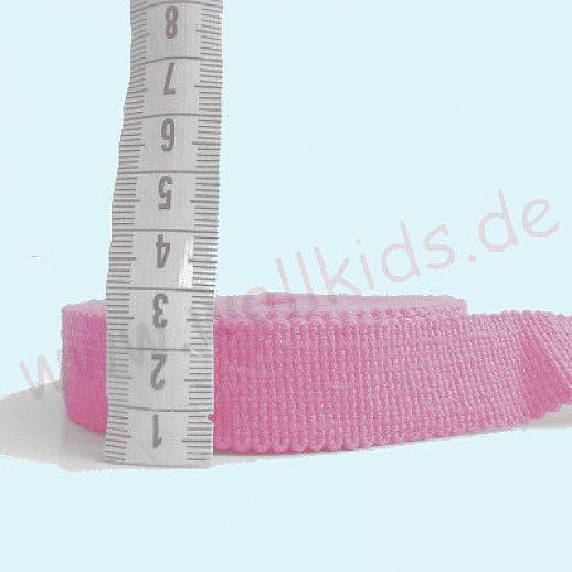 Wollborte - 100% Schurwolle - rosa schmal - Tresse Wolltresse - Einfassband