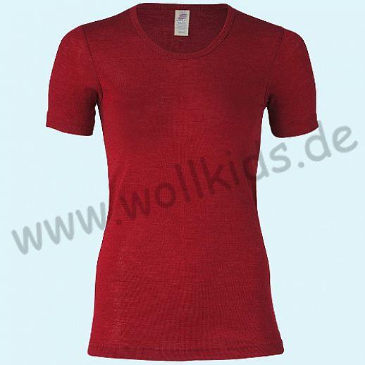 ENGEL: Damen Kurzarm Hemd - KA Hemd - Wolle Seide malve BIO