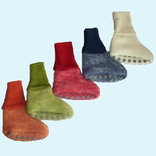 Cosilana - Kuschelige, warme Wollfleece - Baby-Schuhe, in 9 Farben - 100% Schurwolle kbT BIO Organic
