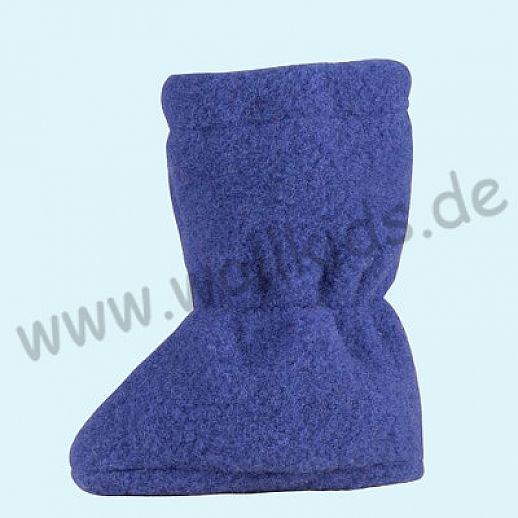 PURE PURE by Bauer: Wollfleece weiche Babystiefel - Schuhe ideal auch für Traglinge - blue print