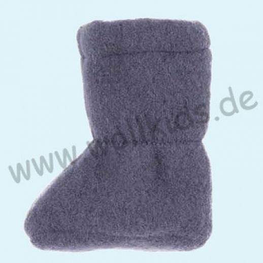 PURE PURE by Bauer: Wollfleece weiche Babystiefel - Schuhe ideal auch für Traglinge - jeans