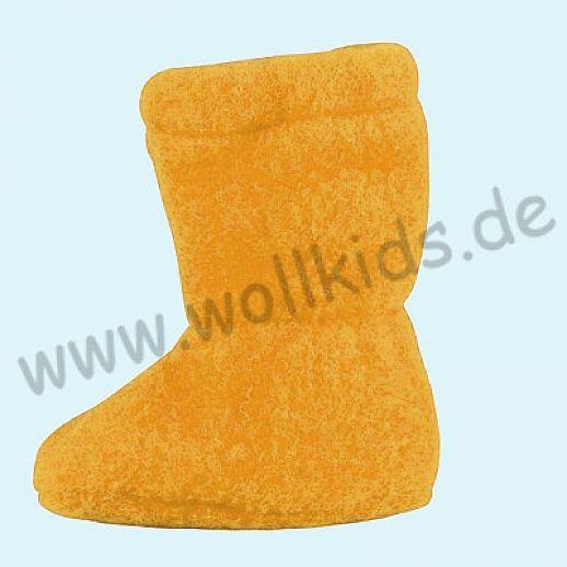 PURE PURE by Bauer: Wollfleece weiche Babystiefel - Schuhe ideal auch für Traglinge - lemon curry