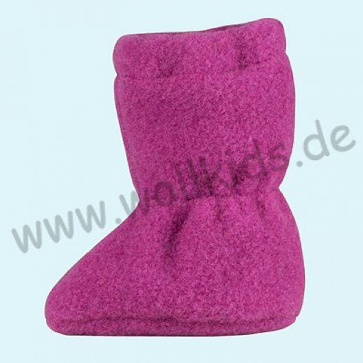 PURE PURE by Bauer: Wollfleece weiche Babystiefel - Schuhe ideal auch für Traglinge - orchidee