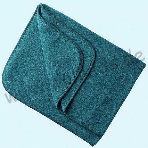Engel Wollfleece Decke kbT Merino-Wolle Merinowolle Fleece petrol