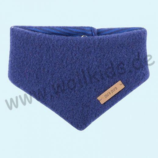 Puretex Schal, Halstuch, Tuch, Dreiecktuch kbT Schurwolle Wollfleece - - blau blue