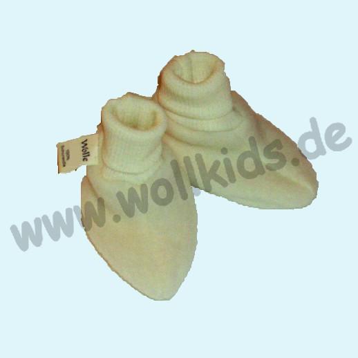 Cosilana - Kuschelige, warme Wollfleece - Baby-Schuhe, natur kbT BIO Organc - Frühchen