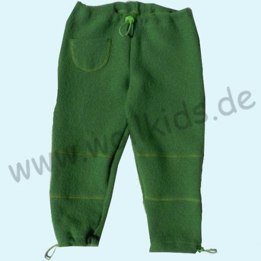NEU: Pfiffige Schlupfhose Gras Grün Wollwalk Hose - verstellbare Bündchen