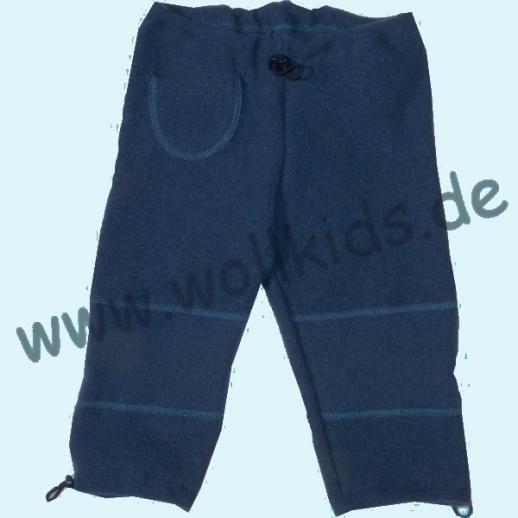 Pfiffige Schlupfhose Walkhose Wollwalk navy dunkelblau - fester gewalkt