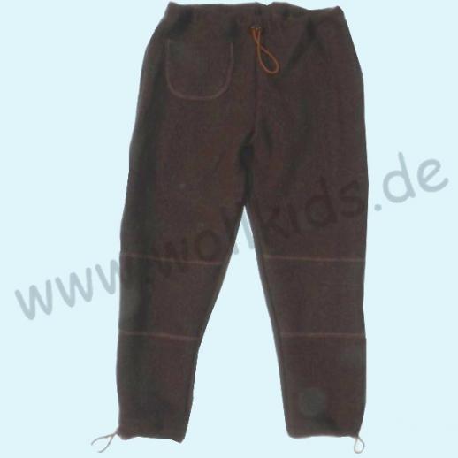 NEU: Pfiffige Schlupfhose Schoko Wollwalk Hose - verstellbare Bündchen