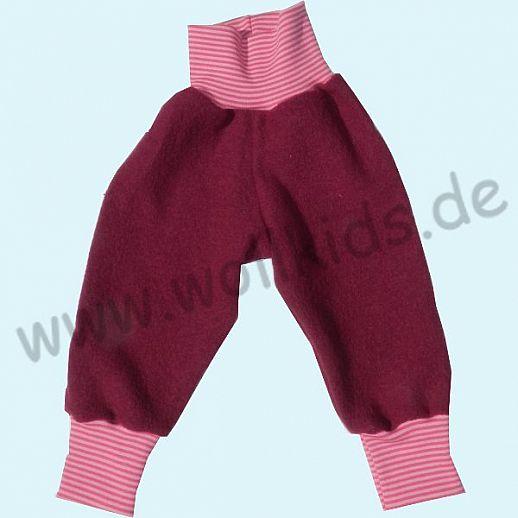 Wohlfühlhose - Walkhose mit Nabelbund - beere - Yogabund rosa-pink Ringel