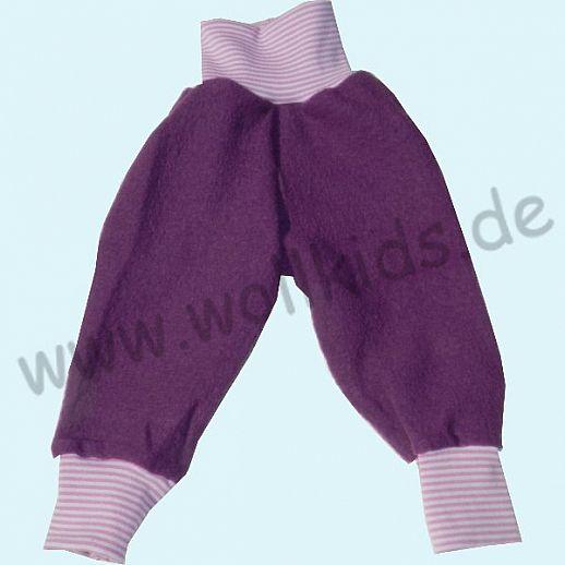 Wohlfühlhose - Walkhose mit Nabelbund - lila - Yogabund flieder-altrosa