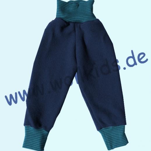 Wohlfühlhose - Walkhose mit Nabelbund - navy blau -wasserabweisender