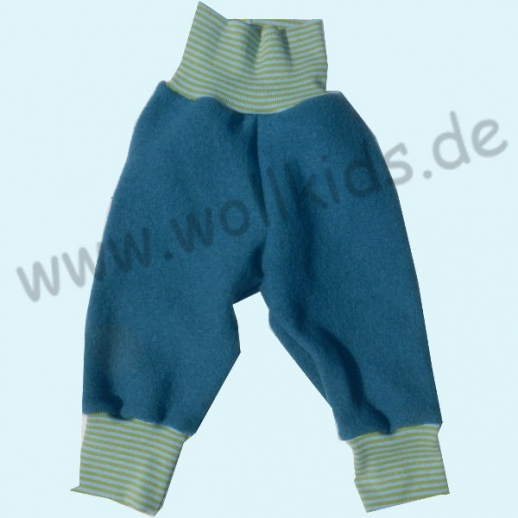 NEU: Wohlfühlhose - Walkhose mit Nabelbund - dunkel-petrol, fester gewalkt