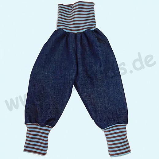 Sondermodell: Wohlfühlhose - Jeans mit Nabelbund - Bio Baumwolle - Bio Ringel Bund - fester Jeans Stoff