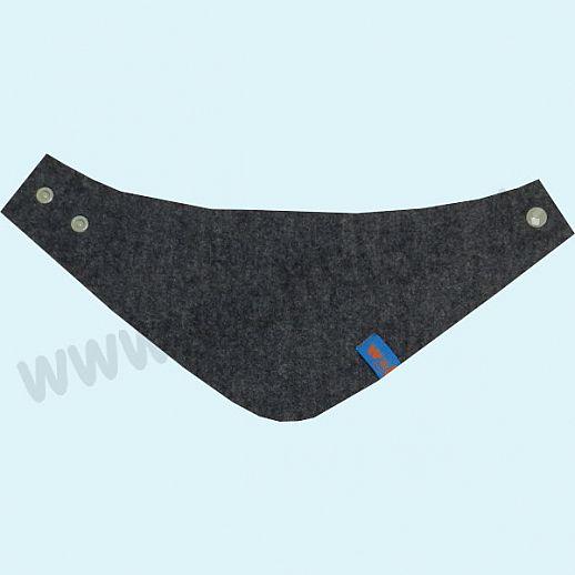 NEU: Halstuch, Schurwollwalk, Schurwolle Doubleface - sehr kuschelig - grau nachtblau