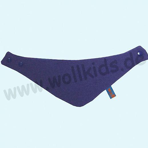 NEU: Halstuch, Schurwolle Halstuch Walk gefüttert mit weichem Baumwoll-Jersey blau Streifen BIO