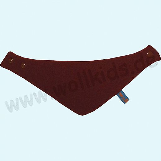 NEU: Halstuch, Schurwolle Halstuch Walk gefüttert mit weichem Baumwoll-Jersey bordeaux Streifen