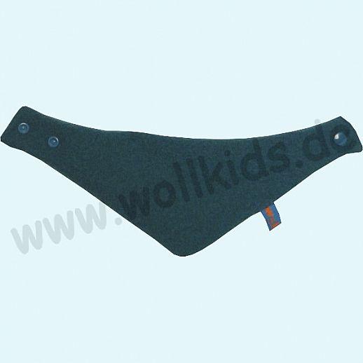 NEU: Halstuch, Schurwolle Halstuch Walk gefüttert mit weichem Baumwoll-Jersey dunkelpetrol Streifen