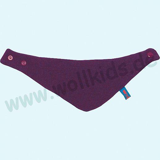 NEU: Halstuch, Schurwolle Halstuch Walk gefüttert mit weichem Baumwoll-Jersey lila Streifen lila