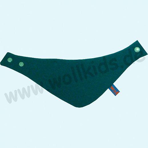 NEU: Halstuch, Schurwolle Halstuch Walk gefüttert mit weichem Baumwoll-Jersey petrol Streifen blau