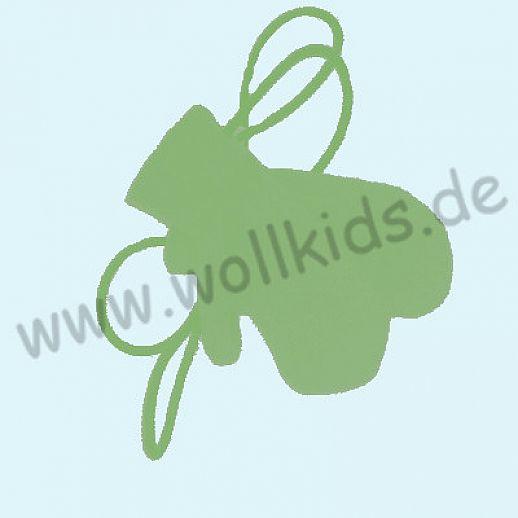 WOLLKIDS Walk-Handschuhe Walk Ökowalk apfel grün  - Handschuhe die an der Hand bleiben!!