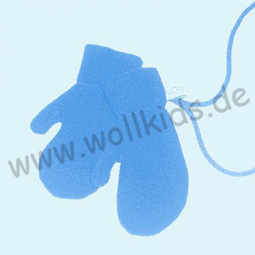 WOLLKIDS Walk-Handschuhe Walk Ökowalk blau - Handschuhe die an der Hand bleiben!!