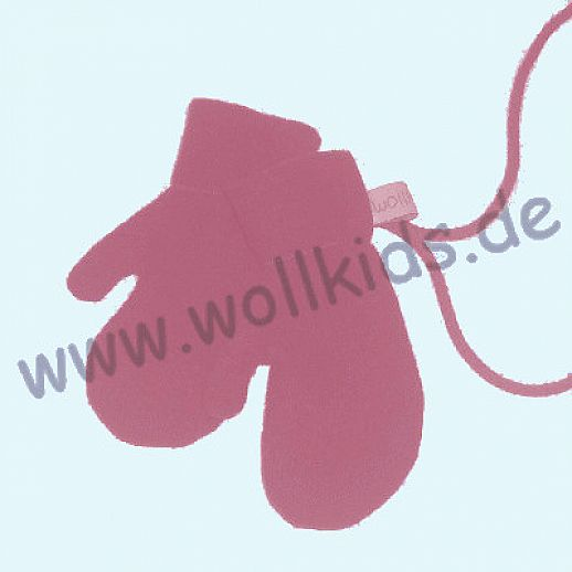WOLLKIDS Walk-Handschuhe Walk Ökowalk himbeer - Handschuhe die an der Hand bleiben!!