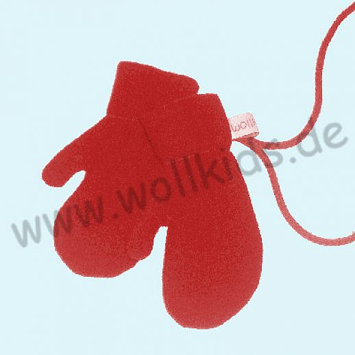 WOLLKIDS Walk-Handschuhe Walk Ökowalk rot - Handschuhe die an der Hand bleiben!!