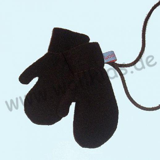 WOLLKIDS Walk-Handschuhe Walk Ökowalk schoko braun - Handschuhe die an der Hand bleiben!!
