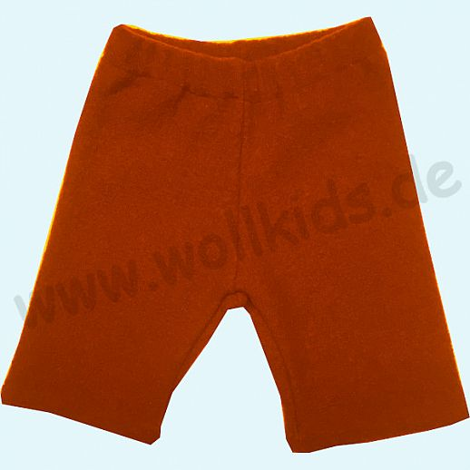 WOLLKIDS Midi Shorts orange Walkshorts Schurwolle Hose Walk