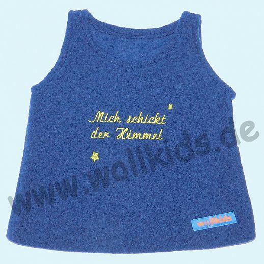 Neuer Schnitt: Öko-Walk Schlupfweste Wollwalk navy -