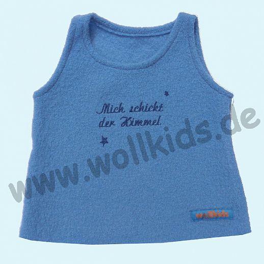 Neuer Schnitt: Öko-Walk Schlupfweste Wollwalk taubenblau -