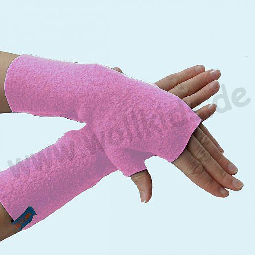 NEU: Damen Pulswärmer Handstulpe Stulpen Walk 100% Schurwolle altrosa