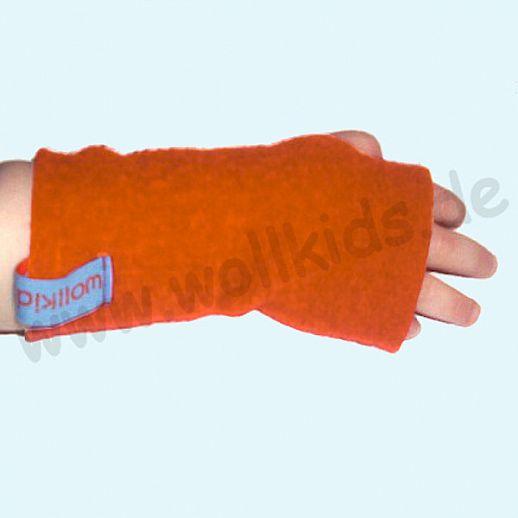 Walk-Pulswärmer für Baby & Kind - ökologisch - warm - weich - orange